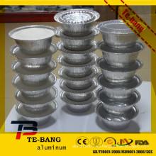 Plato de aluminio de calidad alimenticia pan de hornear platos al por mayor papel de aluminio desechable pan bandeja de aluminio desechable