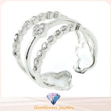 Anillo Ajustable de la nueva joyería de la manera al por mayor para el anillo de la joyería de la plata esterlina de la mujer 925 (R10411)