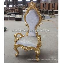 Grande chaise de roi de lion sculptée antique XY0349-2