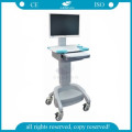 AG-WT002A ABS industrial mobile with wheels computer medical carts