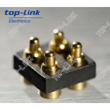 4 Pin Double Row Pogo Pin Connector