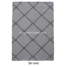 Hand Tufted Carved Design Carpet Tapis
