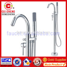chrome plated brass free standing bath shower faucet mixer,bathroom hot and cold shower valves