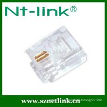 Factory price cat3 6p2c rj11 connector