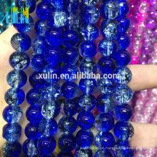 Aterrissagem encantadora do grânulo de Alibaba, grânulos Crackle de vidro redondos do cristal 12mm