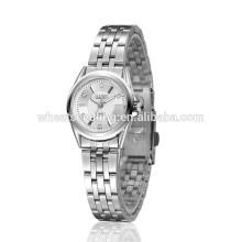 Mulheres relógio eletrônico barato relógios de aço inoxidável feminino