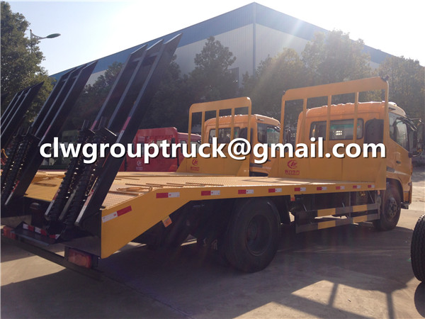Flatbed Trailer Truck a Profile