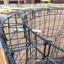 Non-metal glass fibre and basalt rock reinforcement for concrete as EMF proof rebar