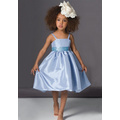A-line Spaghetti Straps Knee-length Taffeta Flower Girl Dress