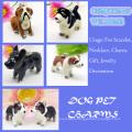 Cute 3D Imitation Enamel Pet Dog Charm Pendant Wholesale