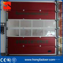 Porte sectionnelle de caserne de pompiers