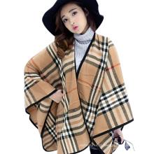 Novo estilo 2017 inverno senhoras outono cobertor de computador cachecol de malha tarja mulheres inverno poncho