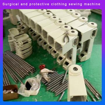máquina de costura de roupas de isolamento