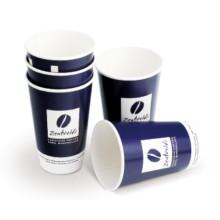 Double Wall Paper Coffee Cup com design de logotipo personalizado