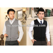 pure Cashmere V neck sweater vest for men