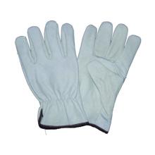 Weißer Kuh-Korn-Fahrer-Handschuh, Sicherheits-Arbeitshandschuh