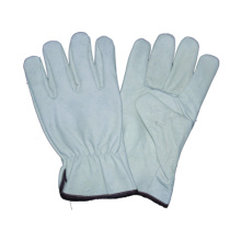 White Cow Grain Driver Glove, Safety Work Glove