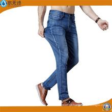 Fábrica Mens Jeans Azul Stretch Denim Calças Moda Cotton Pants