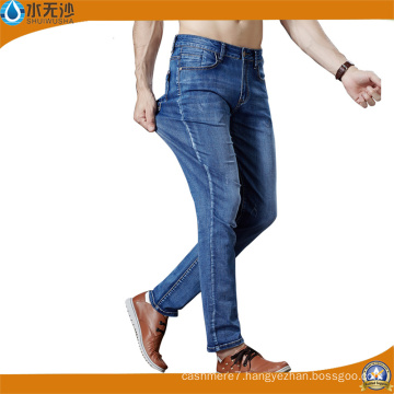 Factory Mens Jeans Blue Stretch Denim Pants Fashion Cotton Pants