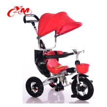 Alibaba en línea al por mayor bebé triciclo nuevo modelo / bicicleta plegable niño triciclo / Mini cliente triciclo para niños en bicicleta