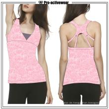 Soem Großhandelsfrauen-kundenspezifisches Baumwollschirm-Drucken-Trägershirt