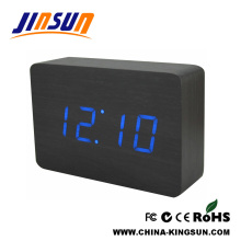 MDF Green Led Clock For Desk