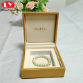 Leather Bracelet Boxes Jewellery Packing Wooden Bracelet Box