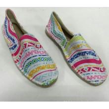 Semelle de chanvre en gros à bas prix Chaussures blanches en espadrille blanche Chaussures en cuir pour hommes / femmes Classiques