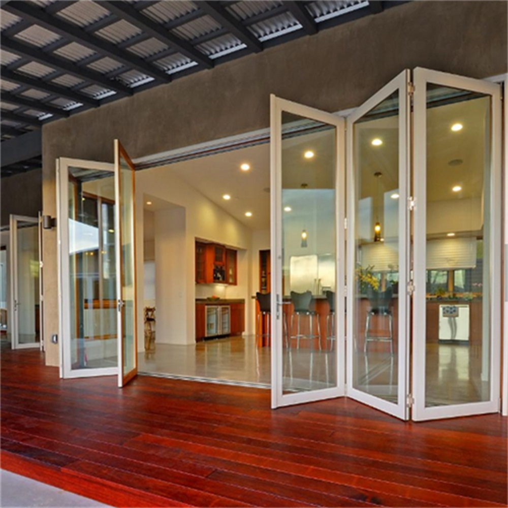 Aluminium Foldable Glass Doors