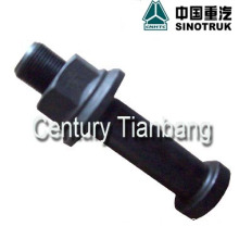 HOWO PARTS  REAR WHEEL BOLT WITH NUT