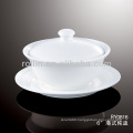 good quality chinese white porcelain soup cup