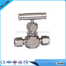 Threaded high temperature flow meter needle valve