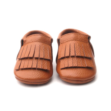 Lovely Toddler Double Soft Leather Mocasines para bebés