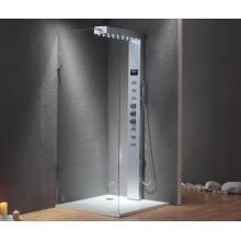 Quadro de alumínio de vidro temperado Chuveiro de massagem EAGO com torneira térmica