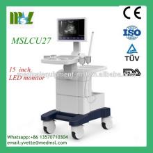 MSLCU27-M Trolley Scanner échographique Doppler couleur avec Spectromètre Doppler couleur de haute qualité, USB 2.0