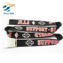 Cinturão Negro de Logotipo de Impressão de Qualidade Superior