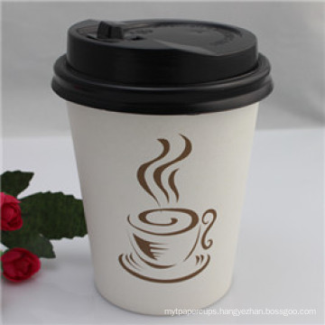 Custom Logo Hot Drinking Disposable Paper Cup with Lid