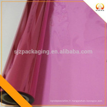 Film transparent en plastique transparent rouge coloré