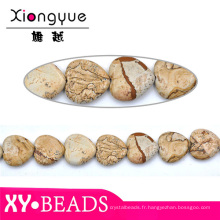 Semi naturel de pierres précieuses perles rubis naturel 20mm coeur facetté