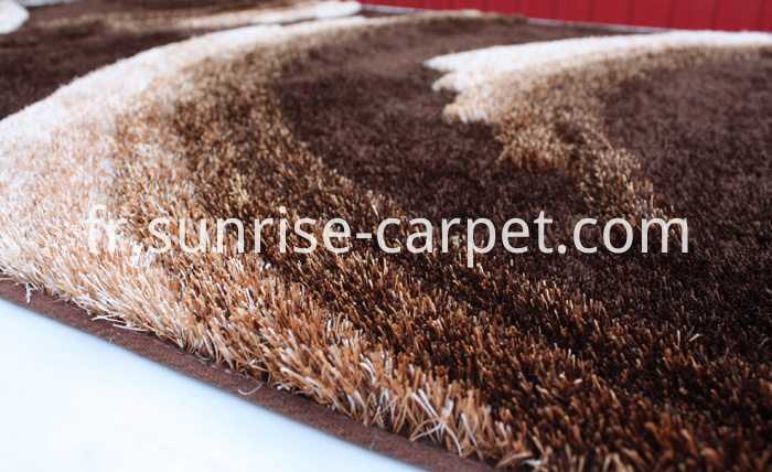 Polyester Shaggy Rug with 3D design
