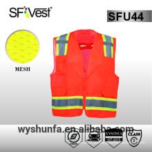 ANSI / ISEA 107-2010 ropa de trabajo reflectante 3m chaleco de seguridad reflectante ropa de seguridad reflectante 100% malla de poliéster