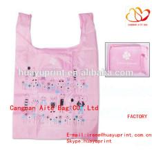Складная хозяйственная сумка из полиэстера и складной мешок из полиэстера