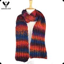 Модные цветастые трикотажные зимние шарфы стиль