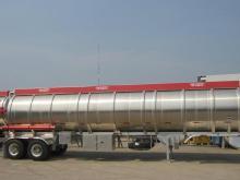 2 Dingil ile alüminyum yakıt tankı yarı römork