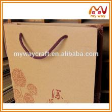 Artes e artesanato sacos de papel kraft sacos de compras dobráveis compradores de china