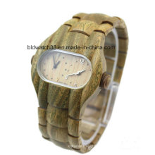 Relojes de cuarzo analógico de doble cara de madera para hombre