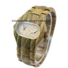 Relógios de madeira da cara dupla de quartzo análogo para homens