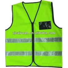 fluorescent green vest with zipper