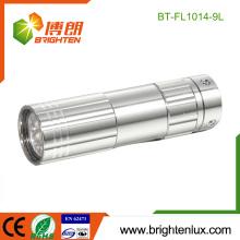 Factory Hot Sale OEM Promotionnel Meilleure batterie 3 * aaa Usé 9 led Mini Cheap Aluminum led Flashlight