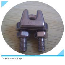 Tipo JIS del acero inoxidable Clips de la cuerda de alambre para levantar